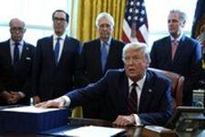 دونالد ترامپ بسته دو تریلیون و دویست میلیارد دلاری مقابله با کرونا را امضا کرد