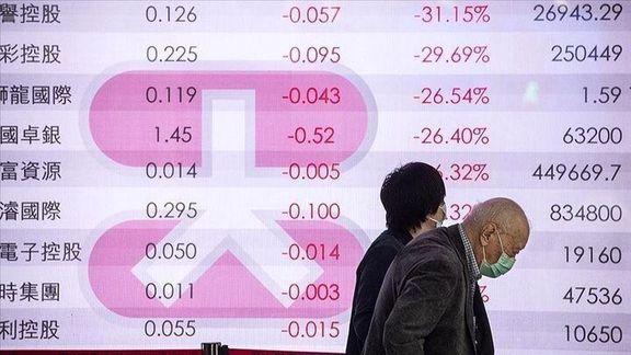 افت ارزش سهام در بازارهای بورس آسیا
