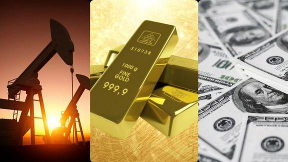 نگاهی به روند قیمت طلای و نفت در دنیا