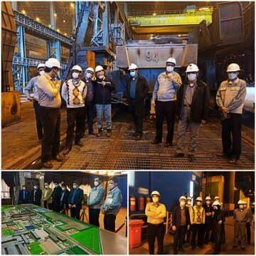 قائم مقام بورس کالای ایران از خطوط تولید شرکت فولاد مبارکه بازدید کرد