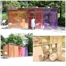 توالتهای شیشهای و شفاف در ژاپن