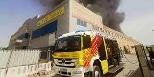 آتش سوزی گسترده در منطقه جبل علی امارات