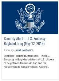 سفارت آمریکا در عراق خالی می شود/دستور آمریکا به کارکنان آمریکایی در بغداد به دلیل افزایش تنش ها