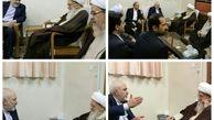 محمد جواد ظریف با آیت الله صافی گلپایگانی دیدار کرد