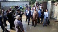 بازدید اسحاق جهانگیری از مناطق سیل زده استان مازندران + تصاویر