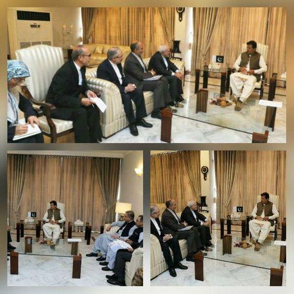 گفتوگوی ظریف و عمران خان  در خصوص مهمترین مسائل روابط بین دو کشور