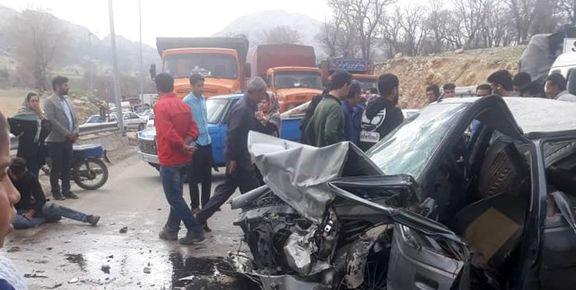 تصادف خونین در جاده یاسوج + عکس