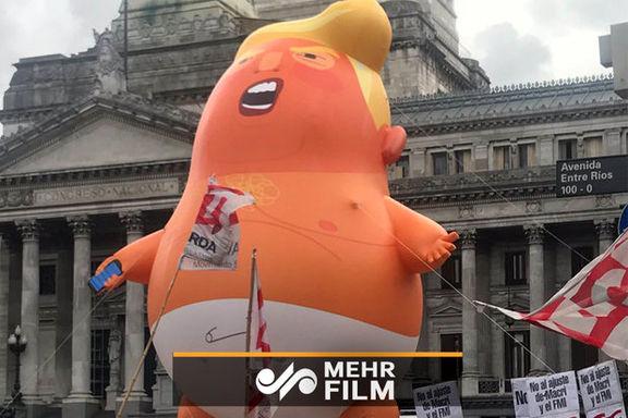 اعتراضات مردم آرژانتین به ترامپ و بن سلمان + ویدئو