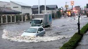 فراخوان تخلیه منازل در جزیره کیوشو ژاپن به دلیل سیلاب