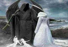 پوشیدن لباس عزرائیل و رفتن به بازار خرمشهر برای ترساندن مردم از کرونا + فیلم