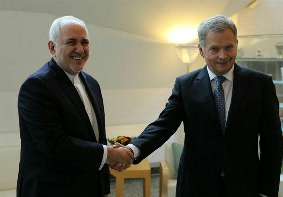 محمدجواد ظریف با رئیس جمهور فنلاند دیدار و گفتگو کرد
