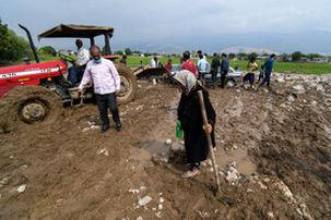 جاری شدن سیل در شهرستان گالیکش استان گلستان