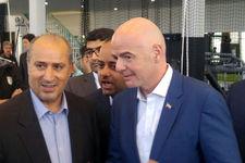 رئیس فدراسیون جهانی فوتبال وارد ورزشگاه آزادی شد