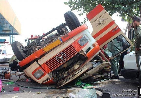 تصادف مینیبوس دانشآموزان سیستان و بلوچستان 10 مصدوم بجا گذاشت