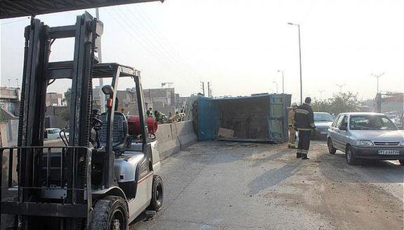 واژگونی وانت تویوتا در محور سراوان به اسلام آباد / ۱۸ نفر مصدوم شدند