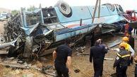 41 کشته و زخمی در پی واژگونی اتوبوس  زائران مینابی