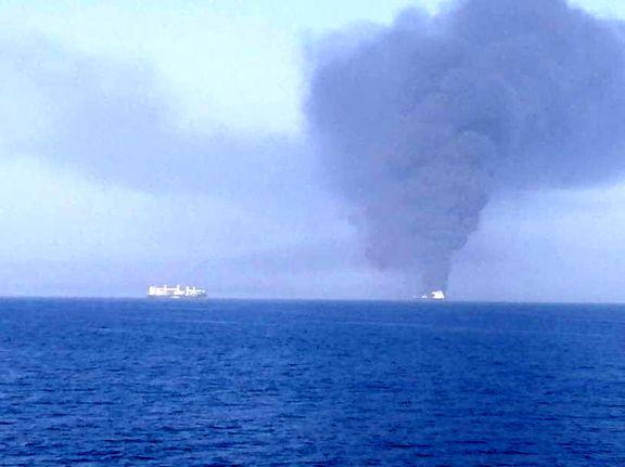 جزئیات حادثه آتش سوزی دو فروند نفتکش در دریای عمان/ ۴۴  دریانورد خارجی نجات یافتند