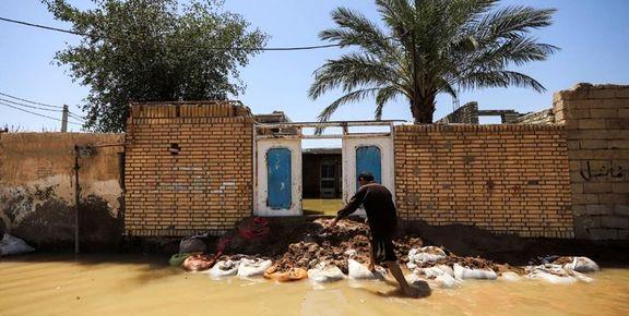 میزان خسارت سیل به خوزستان 83 هزار و 497 میلیارد ریال  اعلام شد