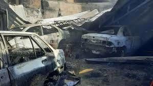 ۲۴ خودرو در پارکینگ عمومی پردیس دچار حریق شدند+ فیلم