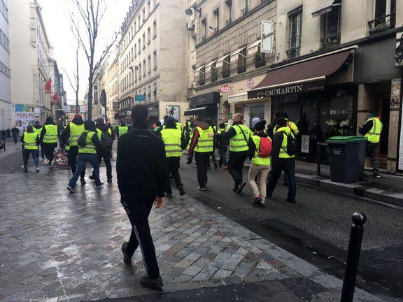 تصاویر حضور جلیقه زردها در خیابان های فرانسه + تصاویر