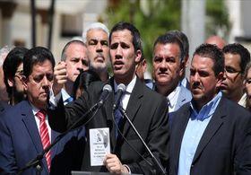 رهبر خودخوانده ونزوئلا از اقدامات دولت وقت ونزوئلا علیه او خبر داد