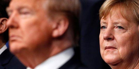 لحن پرخاشگرانه ترامپ در زمان گفتگو با همتای آلمانی خود