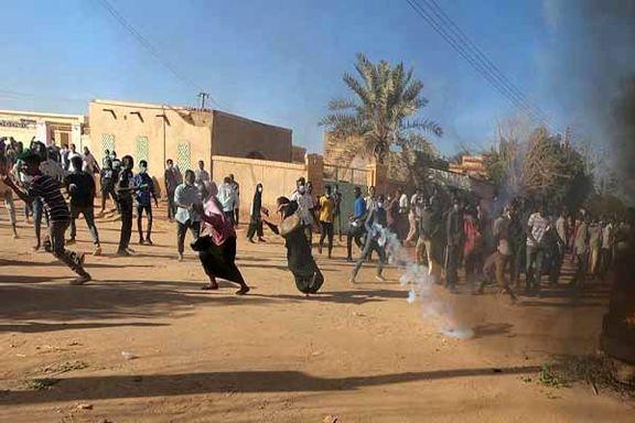 حمله ور شدن نیروهای امنیتی سودان به تظاهرات کنندگان