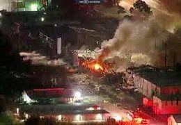 فیلم از انفجار در منطقه صنعتی تگزاس + فیلم