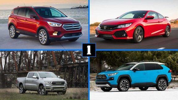 پرفروشترین خودروها در سال 2019 چه خودروهایی بوده است؟