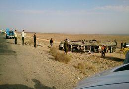 تصادف در جاده کاشان به نطنز + فیلم
