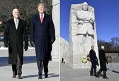 دونالد ترامپ و مایک پنس به مارتین لوترکینگ ادای احترام کردند