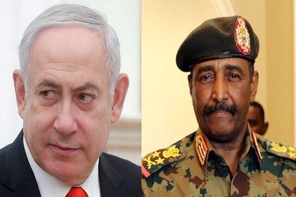 دیدار رئیس شورای حاکمیت سودان با نخست وزیر اسرائیل