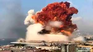 خبرنگار بیبیسی مریم تومی، در دفتر کارش در بیروت در حال مصاحبه بود که انفجار بزرگ بیروت رخ داد