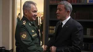 دو وزیر دفاع روسیه و ترکیه با یکدیگر دیدار کردند