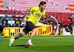 مسی در تمرینات اخیر بارسلونا شرکت کرده است