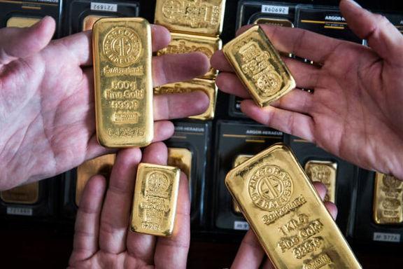 بهای طلا به پایینترین حد پنج ماه اخیر رسید
