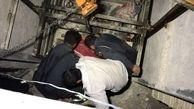 سقوط یک کارگر  45 ساله به داخل چاهک آسانسور  در کرج