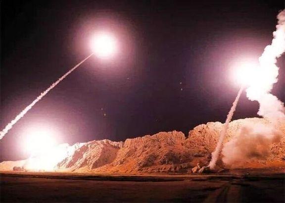 فیلم  از لحظه اصابت راکت ها و موشکها به عین الاسد + فیلم