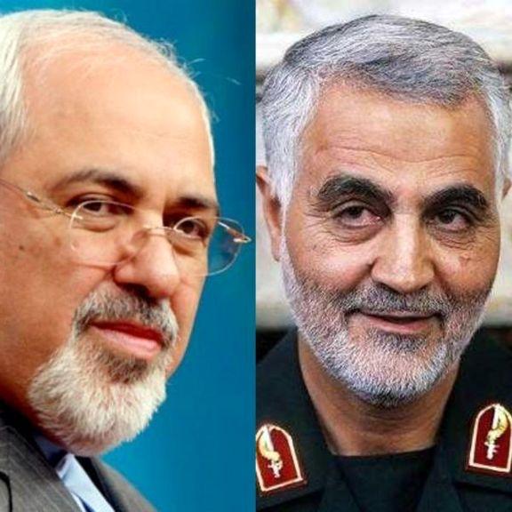 محمد جواد ظریف دریافت نشان ذوالفقار را به سردار سلیمانی تبریک گفت