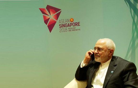 ظریف با وزیر امور خارجه فرانسه گفتگو کرد