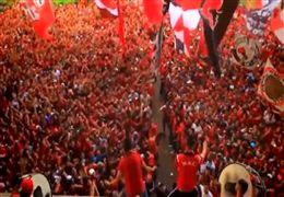 تشویق جذاب هواداران مراکشی در  سرزمین اعجاب انگیز جام جهانی فوتبال