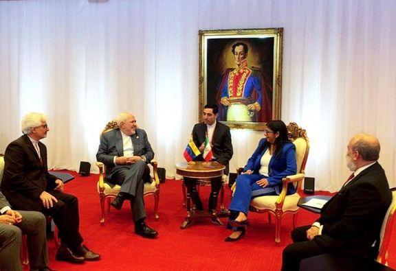 ظریف با معاون اول مادورو گفتگو کرد
