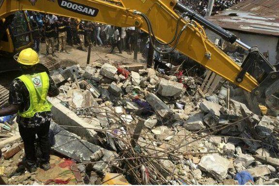 فروریختن ساختمان مدرسهای در نیجریه / ۱۰۰ کودک زیر آوار ماندند