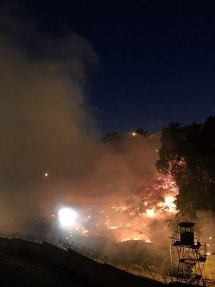 آتشسوزی در فضای سبز نزدیک زندان اوین + فیلم