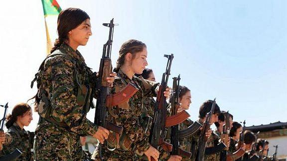 کردهای سوریه نظامیان آمریکا را با سیب زمینی زدند + فیلم