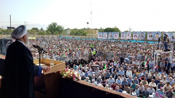 حسن روحانی:  امروز 10هزار و ۵۰۰ میلیارد تومان پروژه در استان خراسان شمالی افتتاح خواهد شد