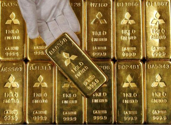 قیمت طلا به بالاترین رکورد خود در سه ماه اخیر رسید/ هر اونس ۱۳۳۱.۰۱ دلار
