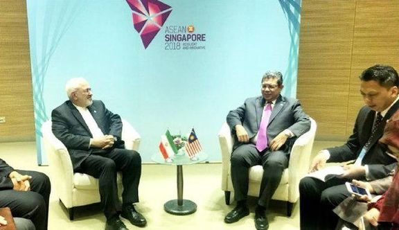 جواد ظریف با همتایان مالزیایی و ویتنامی خود در سنگاپور دیدار کرد