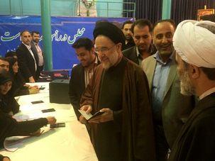 سید محمد خاتمی در انتخابات مجلس شرکت کرد