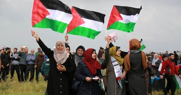 فلسطینی ها علیه معامله قرن تظاهرات می کنند
